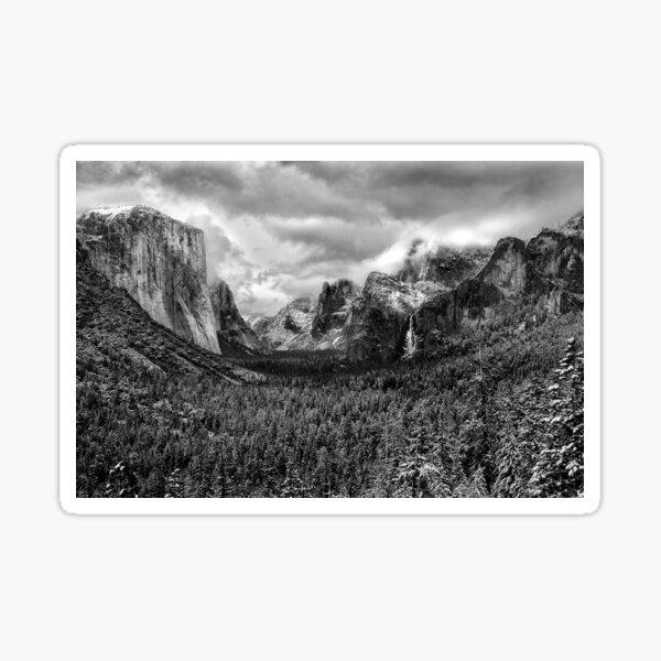Winter Storm, Tunnel View, Yosemite Valley National Park 2012 Sticker
