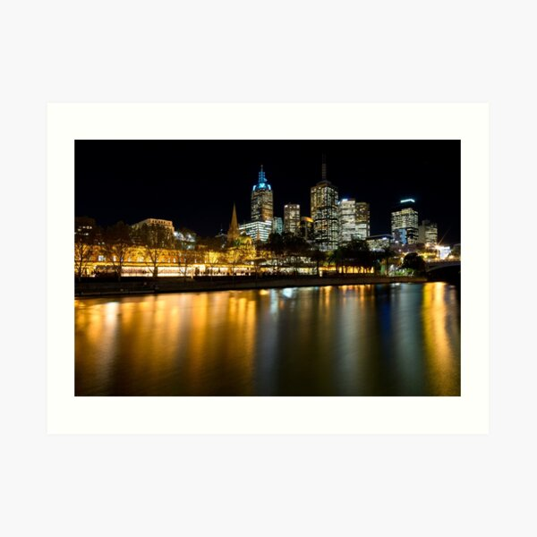 Evenings on the Yarra - Melbourne Australia Art Print