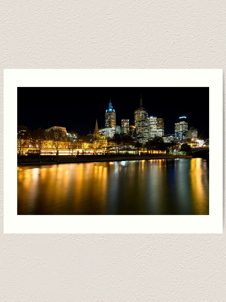 Alternate view of Evenings on the Yarra - Melbourne Australia Art Print