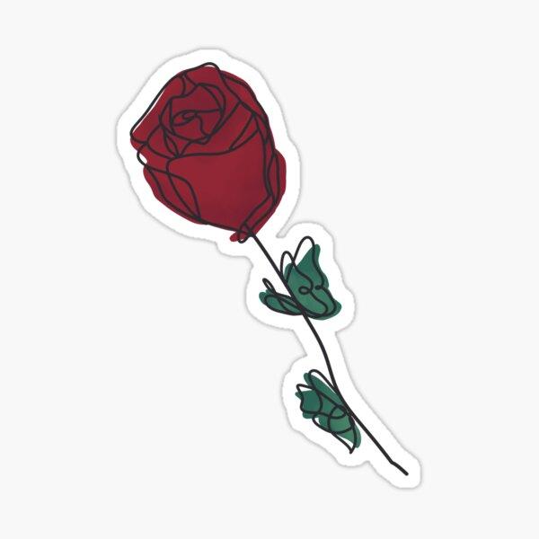 Minimalist Rose Sticker