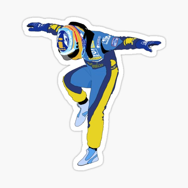 Fernando Alonso Renault F1 Pegatina