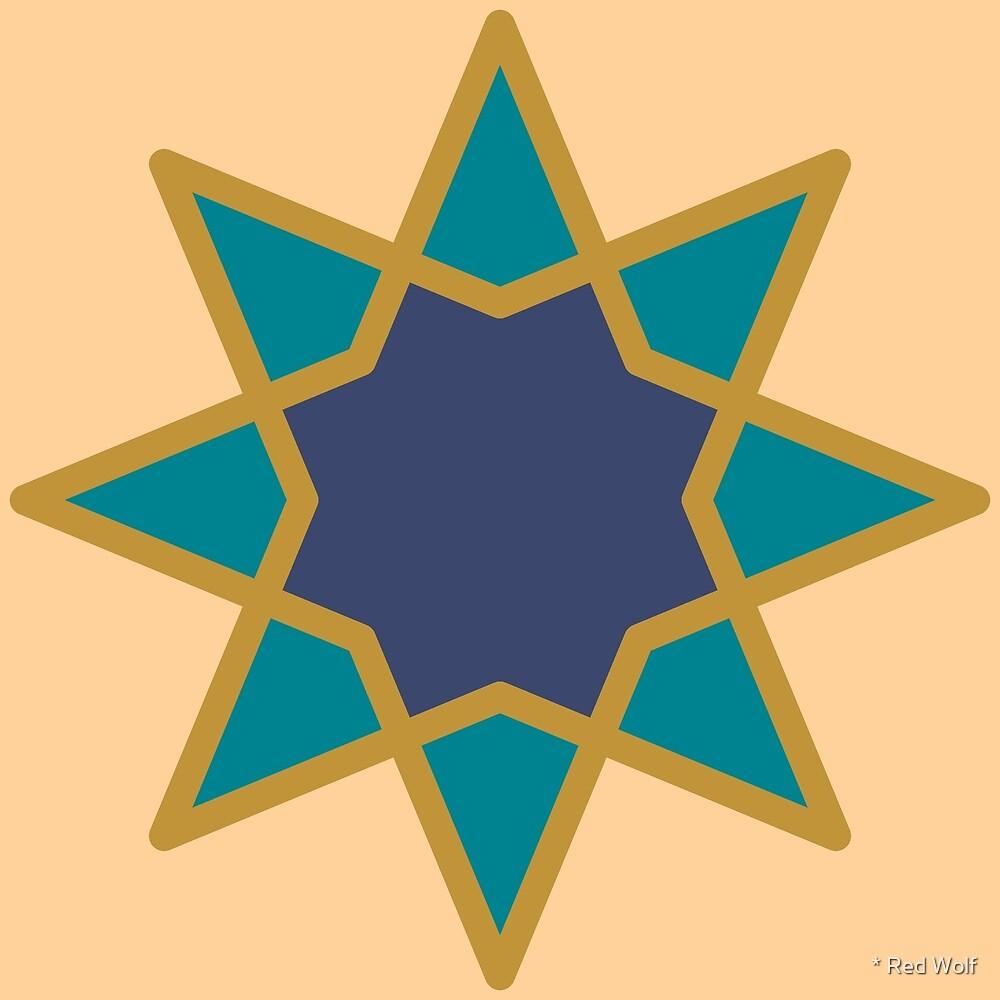 Geometric Pattern: Octagram: Fantasy by * Red Wolf