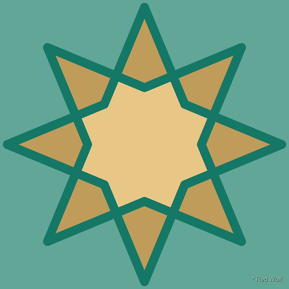 Geometric Pattern: Octagram: Lakeside by * Red Wolf