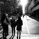 Walking toward the light - Melbourne Australia by Norman Repacholi