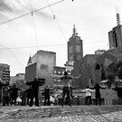 Tai Chi on Federation Square - Melbourne Australia by Norman Repacholi