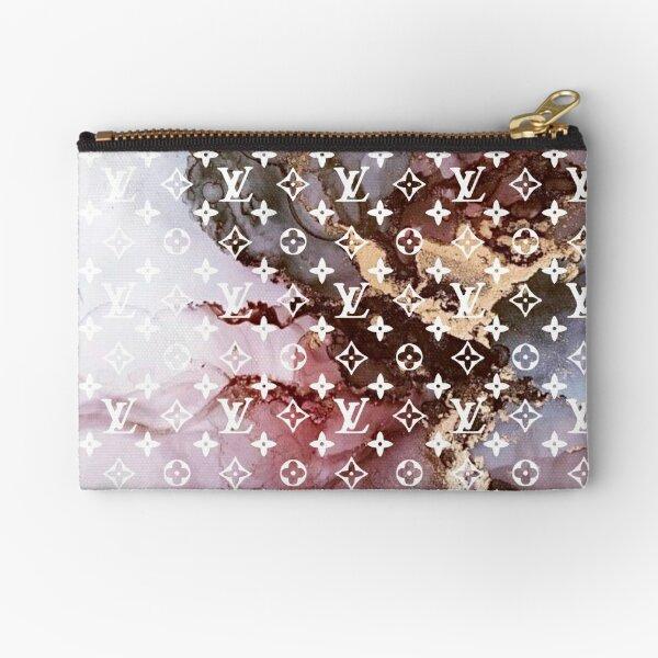 Louis - Pink marble Zipper Pouch