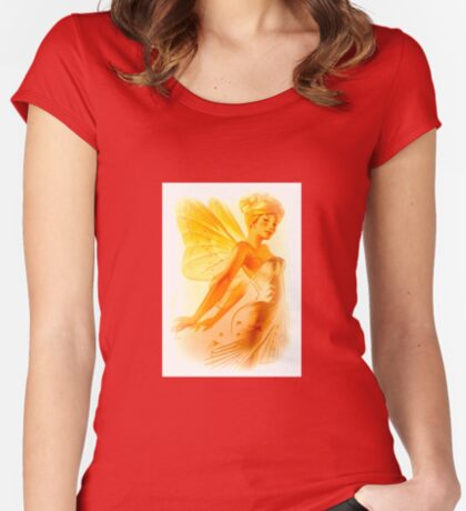 Blonde Fairy Women's Fitted Scoop T-Shirt