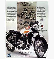 Triumph T160 Trident Poster