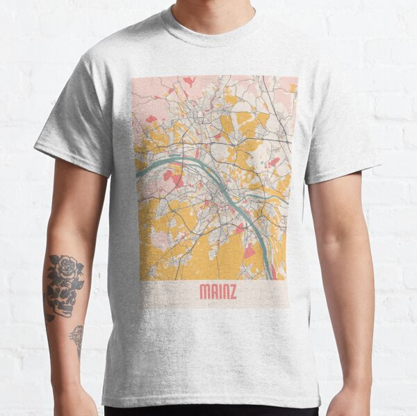 Chalk City Map Of Mainz Germany Classic T-Shirt