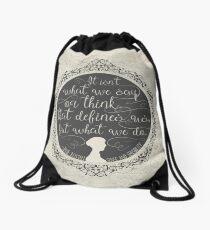 Sense and Sensibility Drawstring Bag