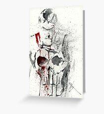 Bloody Skull Greeting Card