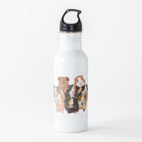 Guinea pigs make me happy Humans make my head hurt Water Bottle
