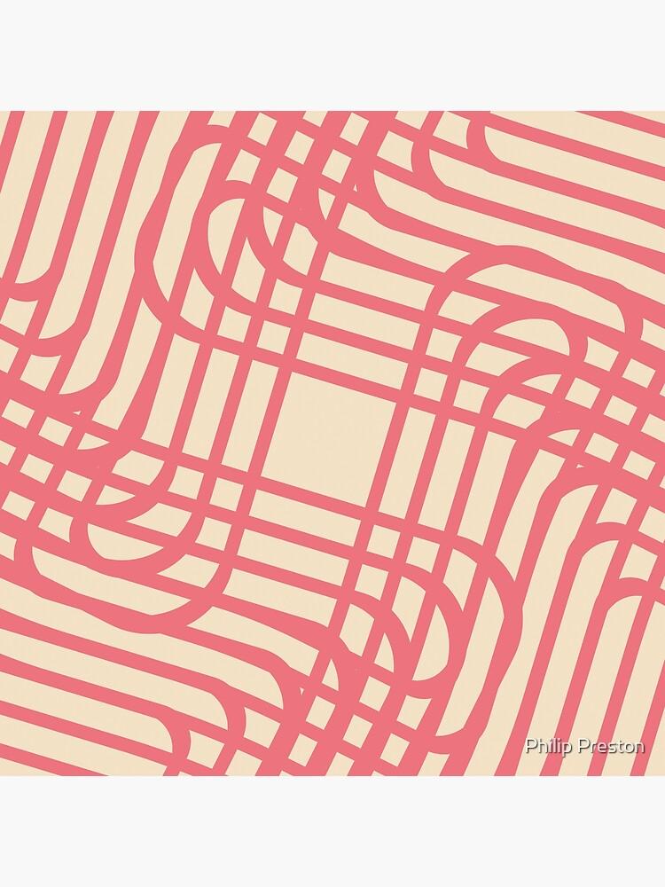 Modern Geometric Pink Raspberry Cream Orange Pattern Design 1889 by prestonphoto