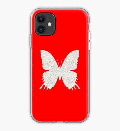 #DeepDream White Butterfly iPhone Case