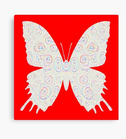 #DeepDream White Butterfly Canvas Print