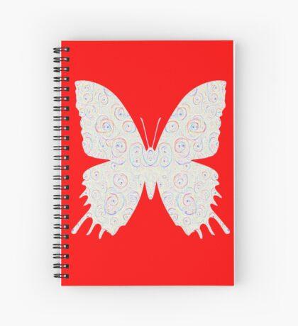 #DeepDream White Butterfly Spiral Notebook
