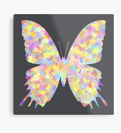 Pastel Motley Butterfly Metal Print