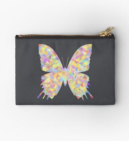 Pastel Motley Butterfly Zipper Pouch