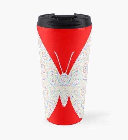 #DeepDream White Butterfly Travel Mug