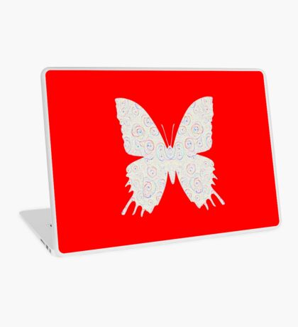 #DeepDream White Butterfly Laptop Skin