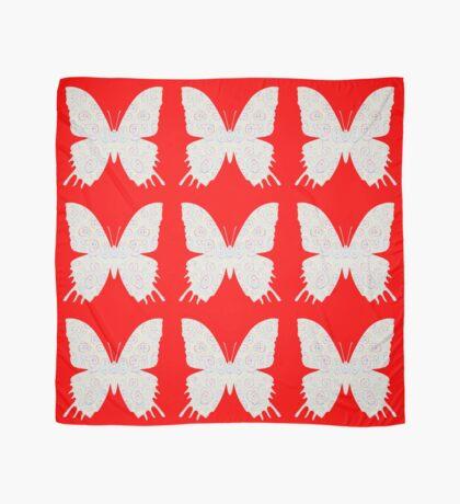 #DeepDream White Butterfly Scarf