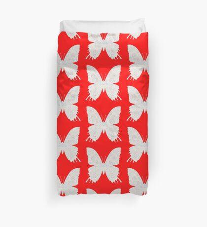 #DeepDream White Butterfly Duvet Cover