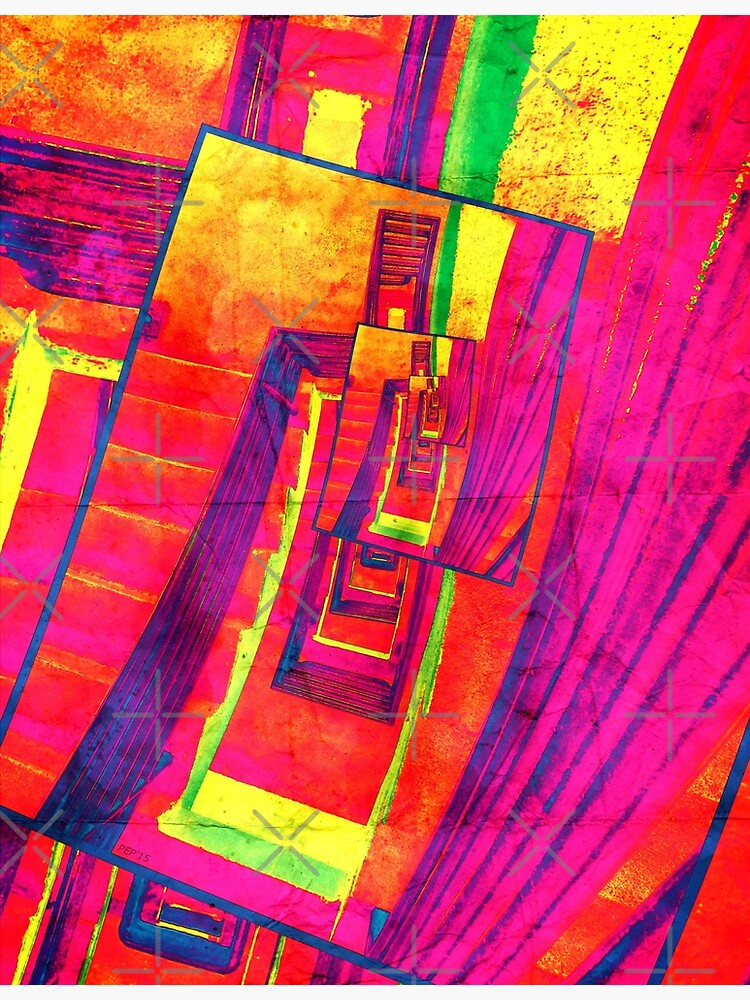 Pop Art Stairwell Abstract by perkinsdesigns
