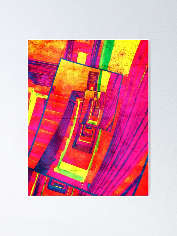 Alternate view of Pop Art Stairwell Abstract Poster