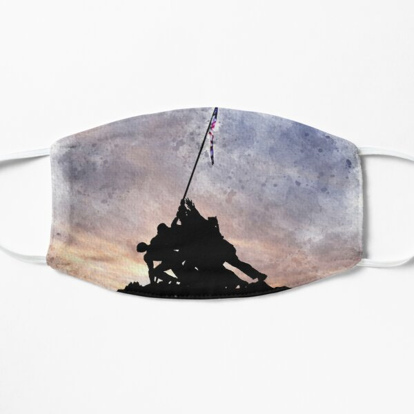 Iwo Jima Statue, Watercolor Mask