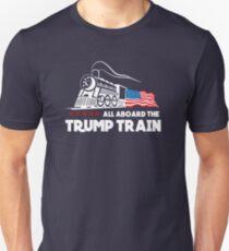 Camiseta unisex ¡Todos a bordo del Trump Train!