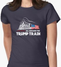 All Aboard the Trump Train! Women's Fitted T-Shirt
