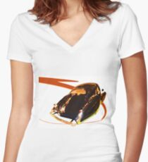 French Curves Women's Fitted V-Neck T-Shirt