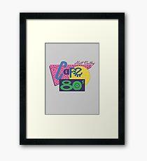 Cafe 80´s Framed Print