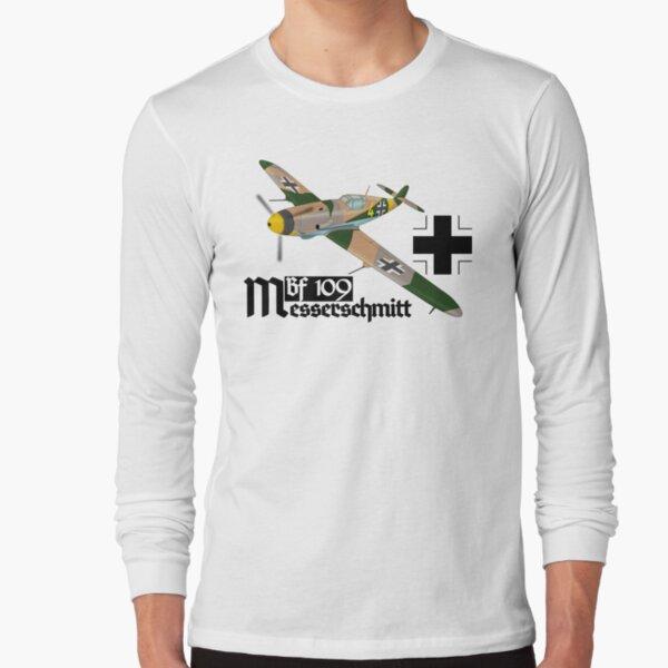 Messerschmitt Bf109 Fighter Battle Britain Luftwaffe Iron Cross Warplane Ww2 Tee