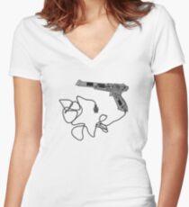 Nintendo Zapper - X-Ray Women's Fitted V-Neck T-Shirt