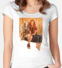 Luna Lovegood ang Ginny Weasley Women's Fitted Scoop T-Shirt