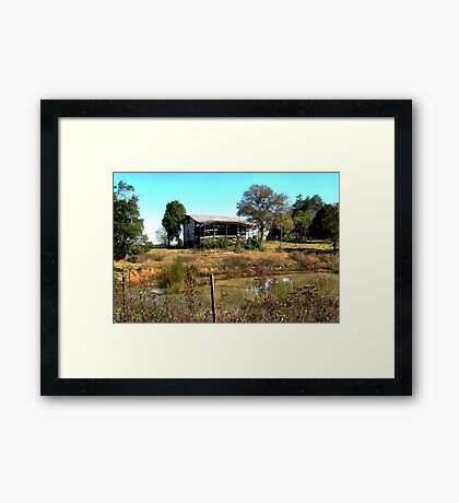 """""""Redneck Version of a Beachfront Condo""""... prints and products Framed Print"""