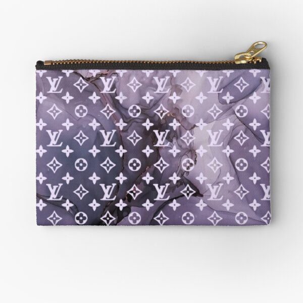 Louis purple marble Zipper Pouch
