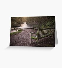 Waterfall, West Burton Greeting Card