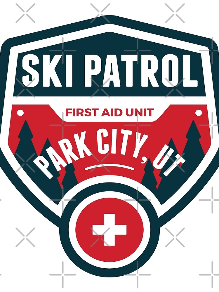 PARK CITY UTAH Skiing Ski Patrol Mountain Art by MyHandmadeSigns