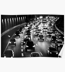 traffic at night Poster