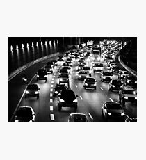 traffic at night Photographic Print