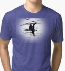 Bigfoot and the Loch Ness Monster team-up confirmed? Tri-blend T-Shirt
