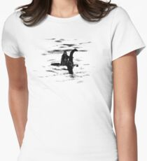 Bigfoot and the Loch Ness Monster team-up confirmed? Women's Fitted T-Shirt