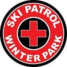 WINTER PARK COLORADO Skiing Ski Patrol Round Mountain Art by MyHandmadeSigns