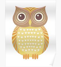 One Friendly Owl Poster