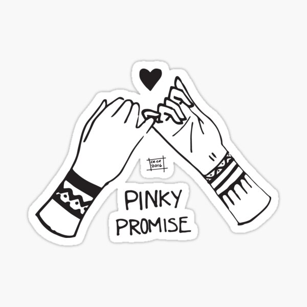 Pinky promise Sticker