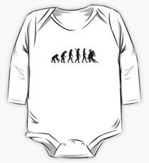 Body de manga larga para bebé Evolución Tango bailando