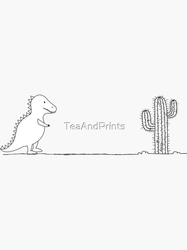 Trex Cactus by TeaAndPrints