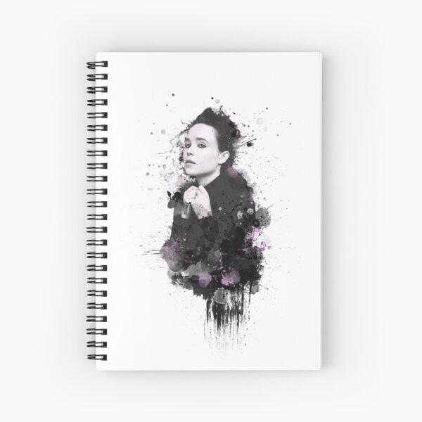 Ellen Page - splatters 2 Spiral Notebook
